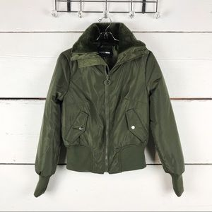 Fashion nova puffer jacket green